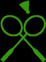 Badmintonrackets_gekruisd_GROEN_PNG